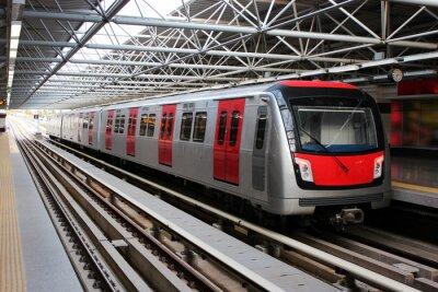 Fototapete Metro train at the subway station
