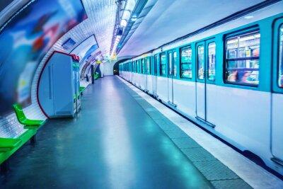 Fototapete Metrostation in Paris