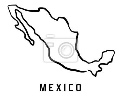Mexiko Karte Umriss.Fototapete Mexiko Karte Umriss