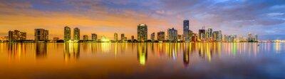 Fototapete Miami, Florida Biscayne Bay Skyline Panorama