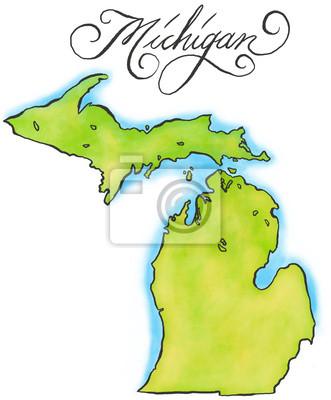 Michigan Karte