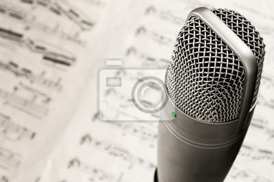 Fototapete microfono