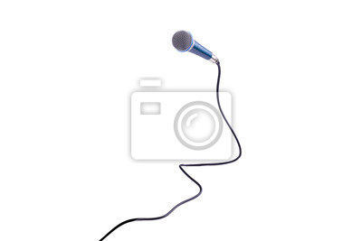 Fototapete Microphone isolated on white background