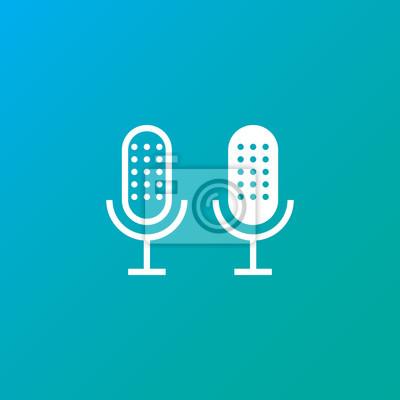 Mikrofon-symbol fototapete • fototapeten ertönen, Aufzeichnung ...