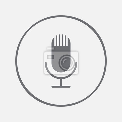 Mikrofon-symbol fototapete • fototapeten vocal, Schaltfläche ...