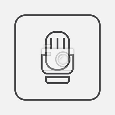 Mikrofon-symbol fototapete • fototapeten dünne, trendy, Rede ...