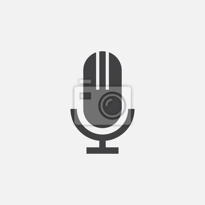 Mikrofon-symbol fototapete • fototapeten Podcast, vocal ...