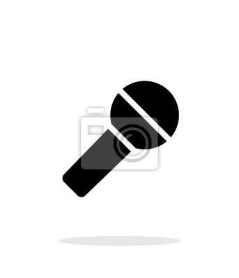 Mikrofon-symbol auf weißem hintergrund. fototapete • fototapeten ...