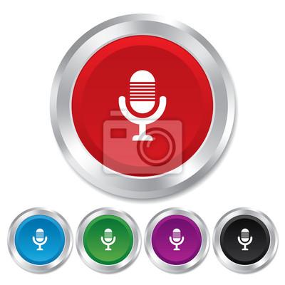 Mikrofon-symbol. lautsprechersymbol. fototapete • fototapeten App ...