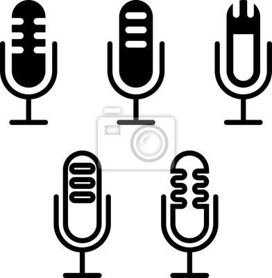 Mikrofon-symbol, mikrofon-symbol fototapete • fototapeten Stimme ...