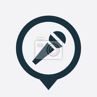 Mikrofon-symbol pin fototapete • fototapeten Podcast, Schaltfläche ...