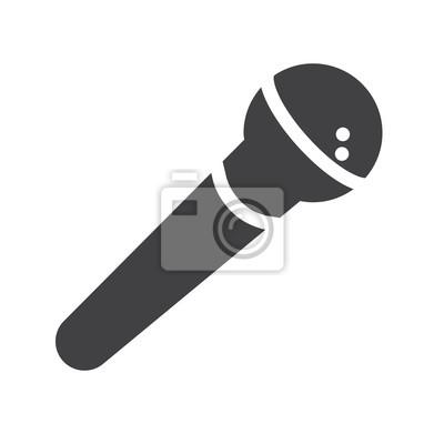 Mikrofon-symbol vektor fototapete • fototapeten Glyphen, vocal ...