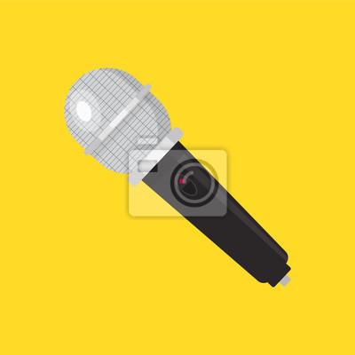 Mikrofon-symbol. vektor-illustration der vorrichtung. flaches ...