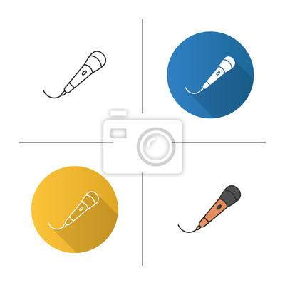 Mikrofonsymbol fototapete • fototapeten negativen Raum, Glyphen ...