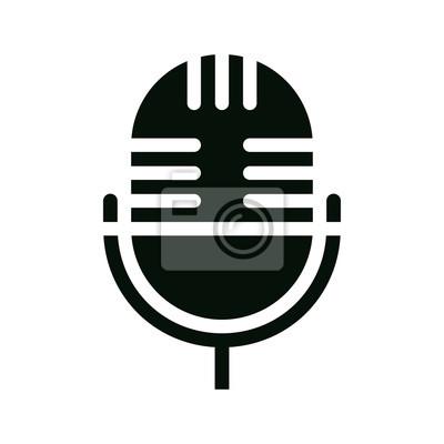 Mikrofonsymbol fototapete • fototapeten vocal, Vorstellungsgespräch ...