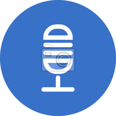 Mikrofonsymbol fototapete • fototapeten vocal, stehen, Schnur ...