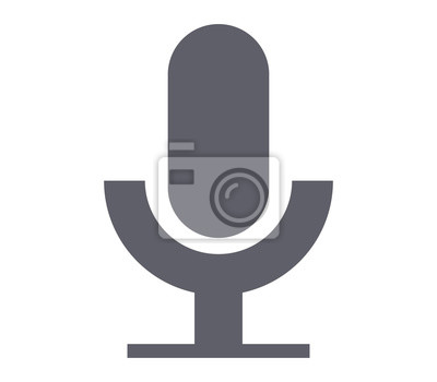 Mikrofonsymbol fototapete • fototapeten Wohnung, ertönen, Stimme ...