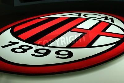 Fototapete Milan, Italy, September 20, 2010 - AC Milan logo.