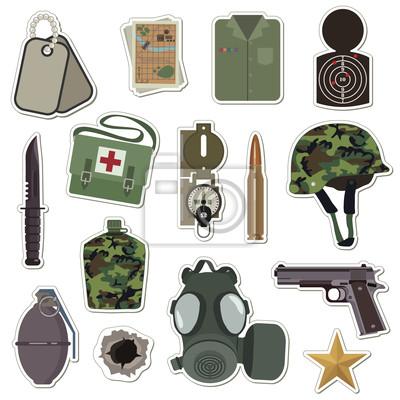 militärische Aufkleber