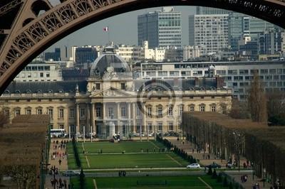 military school view under the eiffel tower, paris