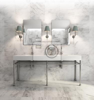 Exceptional Fototapete Minimal Elegante Luxus Badezimmer, Olivgrün Weißem Marmor
