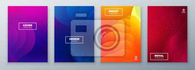 Fototapete Minimal modern cover design. Dynamic colorful gradients. Future geometric patterns. poster template vector design.
