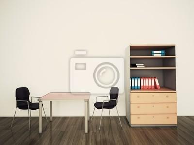 Minimal Modernen Innen Buro Tisch Und Stuhlen Fototapete