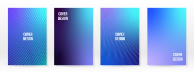 Fototapete Minimal Poster. Pastel Soft. Blue Gradient Set.