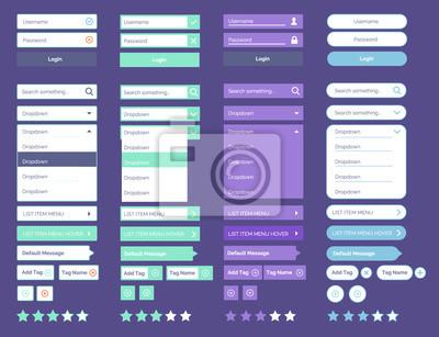 Minimal UI-Kit Web-UI-Elemente Mega Collection flachen Design Web-Elemente Icons, Web-Formulare, Schaltfläche, Kontrollkästchen, Media-Player, Pagination und so weiter
