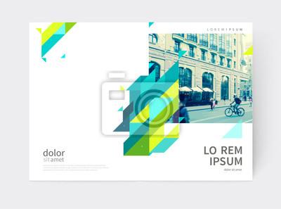 Minimalistische broschüre. jahresbericht deckblattvorlage. a4 ...