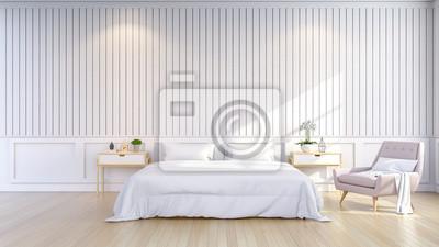 Minimalistische und skandinavischen stil, gemütliche schlafzimmer ...
