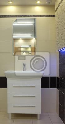 Minimalistischen modernen bad stil der luxus-interieur fototapete ...