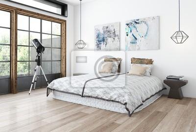 Fototapete Minimalistisches Design Schlafzimmer Konzept