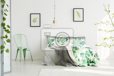 Fototapete: Minze stuhl in inspirierende schlafzimmer