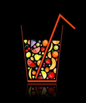 Mischen von Fruchtsaft im Glas für Ihr Design