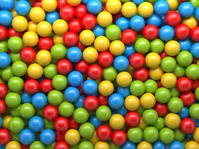 Fototapete Mischfarbe Bälle Hintergrund
