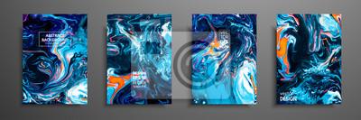 Fototapete Mischung aus Acrylfarben.  Flüssige Marmorstruktur.  Fluid art.  Anwendbar für Design-Cover, Präsentation, Einladung, Flyer, Jahresbericht, Poster und Visitenkarte, Designverpackung.  Moderne Kunstwer