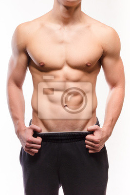 Mit nacktem Oberkörper muskulöser Mann sexi Torso