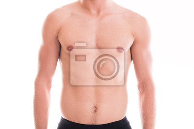 Mit nacktem Oberkörper muskulöser männlicher Torso