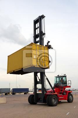 Mobil Container Spreader Fototapete Fototapeten Stapler Angedockt