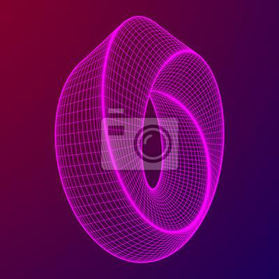 Fototapete: Mobius streifenring heilige geometrie  räumliche figur mit  umgedrehten