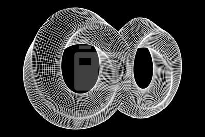 Fototapete: Mobius-streifenring-unendlichkeits-heilige geometrie  räumliche