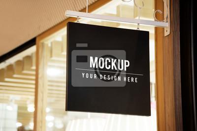 Fototapete Mockup sign outside of a shop