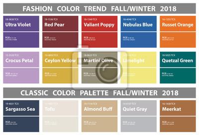 Mode Farbtrend Herbst Winter 2018 Und Klassische Farbpalette
