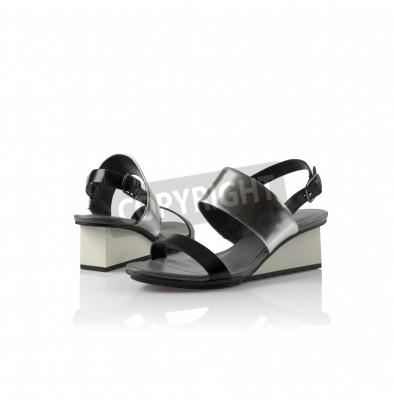 huge discount d3a60 3466f Fototapete: Mode moderne damenschuhe isoliert auf weißem hintergrund