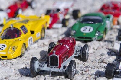 Fototapete Modelle des klassischen Autos in der Sonne