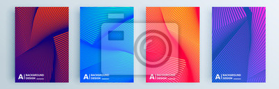 Fototapete Modern abstract covers set, minimal covers design. Colorful geometric background, vector illustration.