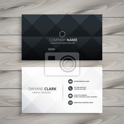 Fototapete modern black and white business card design