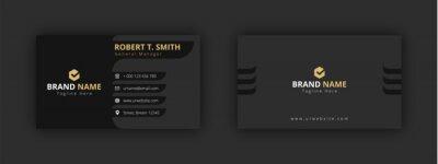 Fototapete modern / black / gold / clean business card, visiting card template