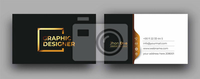 Fototapete Modern Business Card - Creative and Clean Business Card Template.
